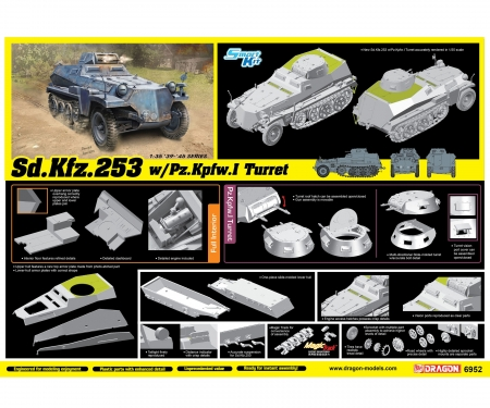 carson 1:35 Sd.Kfz.253w/PanzerI Turret SmartKit