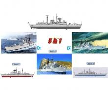 carson 1:700 H.M.S. Type 42 Destroyer Batch 1-3