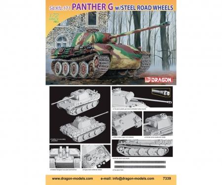 carson 1:72 Sd.Kfz.171 PantherG /SteelRoadWheel