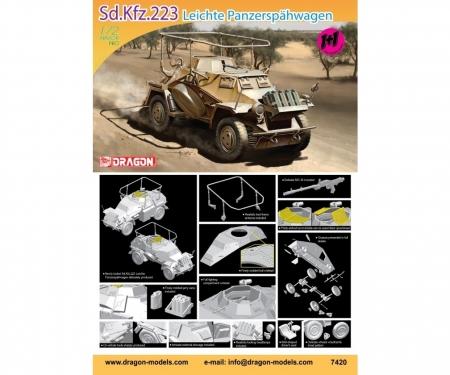 carson 1:72 Sd.Kfz.223 Leichter Panzerspähwagen