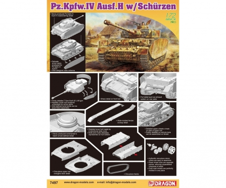 carson 1:72 Pz.Kpfw.IV Ausf.H w/Schurzen