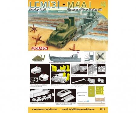 carson 1:72 LCM(3)+M4A1 Sherman w/DeepWadingKit