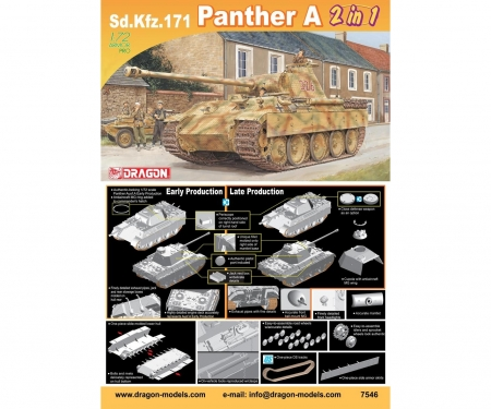 carson 1:72 Sd.Kfz.171 Panther A (2 in 1)