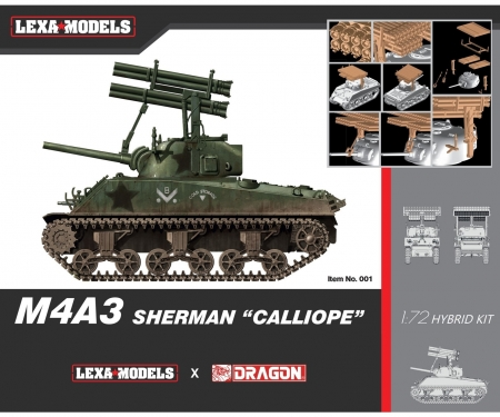 """carson 1:72 M4A3 Sherman """"Calliope"""""""