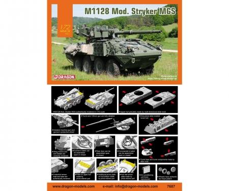 carson 1:72 M1128 Mod. Stryker MGS