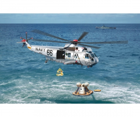 "carson 1:72 ApolloRecovery SH-3D""Helo 66""& C.M."