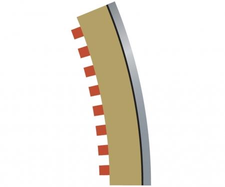 carson SPORT Randstreifen Kurve R3 aus. 22,5(4)