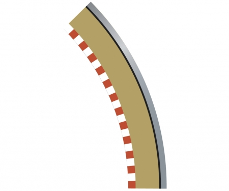 carson SPORT Randstreifen Kurve R2 aus. 45(4)