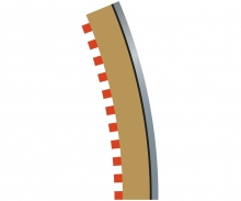 carson SPORT Randstreifen Kurve R4 aus. 22,5(4)