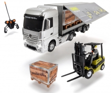 DICKIE Toys RC Mercedes-Benz Actros/Forklift Clark C25, RTR