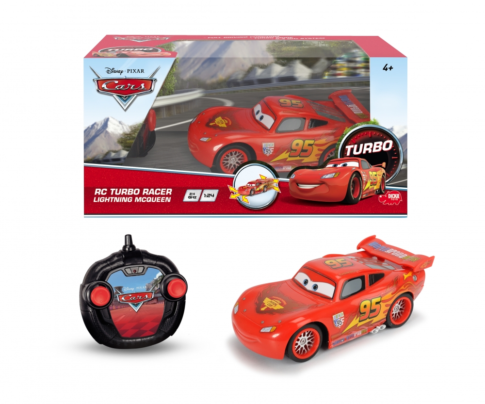 Rc Cars 2 Turbo Racer Lightning Mcqueen Cars Known From Tv Brands Products Www Dickietoys De