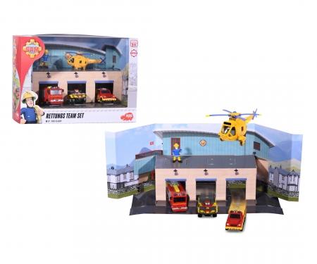 DICKIE Toys Sam Le Pompier Fire Rescue Team Set