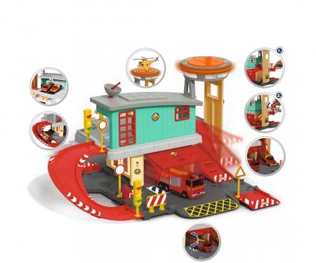 DICKIE Toys Feuerwehrmann Sam Feuerstation