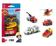 DICKIE Toys Feuerwehrmann Sam 3 Pack, 3-sort.