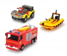 DICKIE Toys Feuerwehrmann Sam 3 Pack