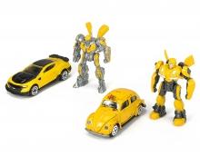 DICKIE Toys PACK 4 VEHICULOS Y FIGURAS TRANSFORMERS