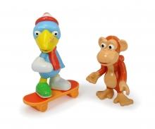 DICKIE Toys Helden der Stadt Figurenset Kasimir Krähe & Anton der Affe
