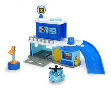 DICKIE Toys Les héros de la ville Poste de police incluse Hector l'hélicoptère