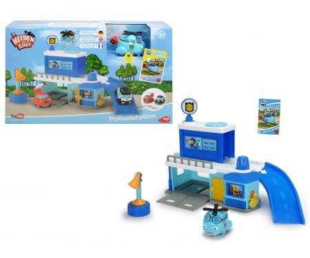 DICKIE Toys Helden der Stadt Polizeistation inkl. Hector Helikopter
