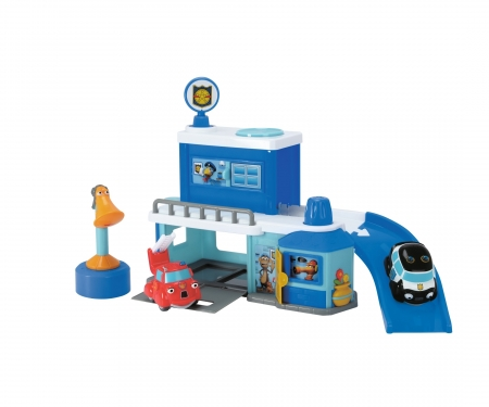 DICKIE Toys Heroes of the City Police Station incl. Hector Helicopter