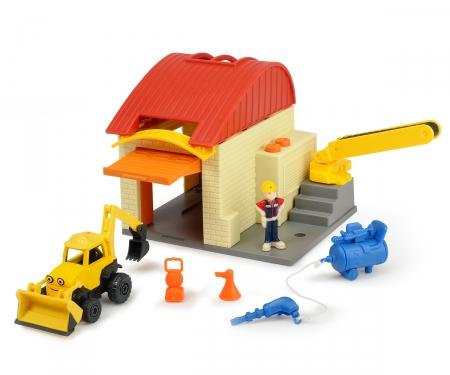 DICKIE Toys Bob der Baumeister Garagen Spielset Baggi und Bob