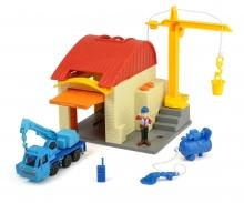 DICKIE Toys Bob der Baumeister Garagen Spielset Heppo und Wendy