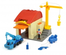 DICKIE Toys Bob the Builder Garage Playset Heppo and Wendy