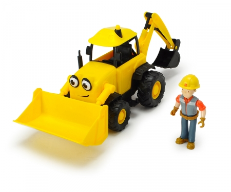 DICKIE Toys Bob the Builder Action Team Scoop + Bob