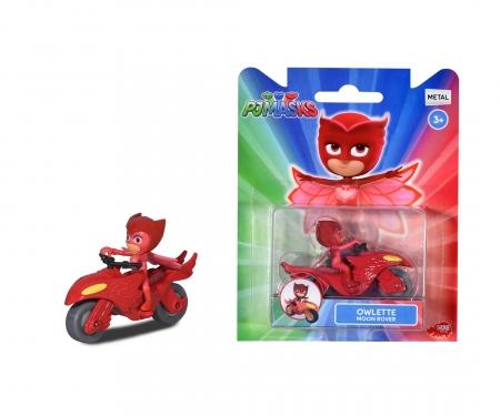DICKIE Toys PJ Masks Single Pack Eulette Mondfahrzeug