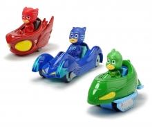 DICKIE Toys SET 3 VEHÍCULOS PJ MASKS