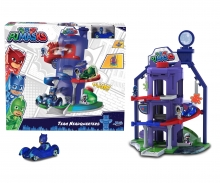DICKIE Toys CUARTEL GENERAL PJ MASKS 3 NIVELES CON VEHÍCULO