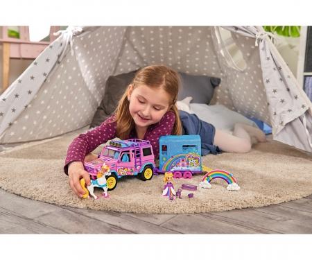 DICKIE Toys Pink Drivez Unicorn Trailer
