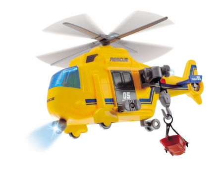 DICKIE Toys Rescue Copter A/Lumiere-Son (Bo,15cm)