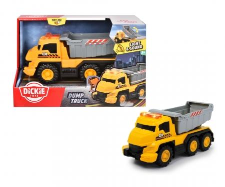 DICKIE Toys Tombereau avec sons et lumières