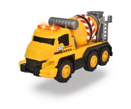 DICKIE Toys Camion mixeur de béton avec sons et lumières