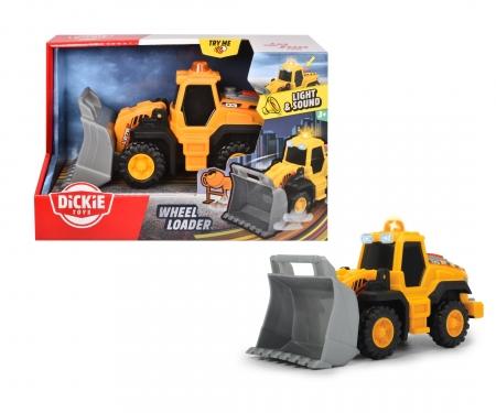 DICKIE Toys Chargeuse sur pneus avec sons et lumières