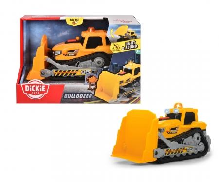 DICKIE Toys Bulldozer avec sons et lumières