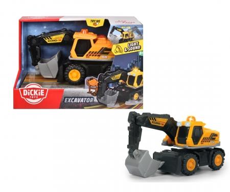 DICKIE Toys Excavateur avec sons et lumières