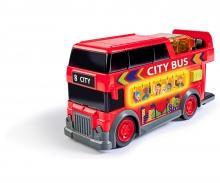 DICKIE Toys AUTOBÚS DESCAPOTABLE CON LUZ Y SONIDO 15 CM