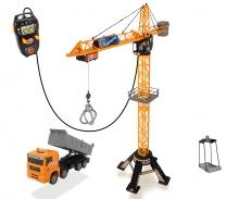DICKIE Toys MEGA GRÚA CON CABLE CON CAMIÓN 120 CM