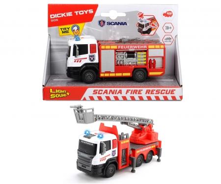 DICKIE Toys CAMIÓN BOMBEROS SCANIA CON LUZ Y SONIDO 17 CM 2 SURT