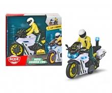 DICKIE Toys GUARDIA CIVIL MOTO  CON FIGURA LUZ Y SONIDO 17 CM