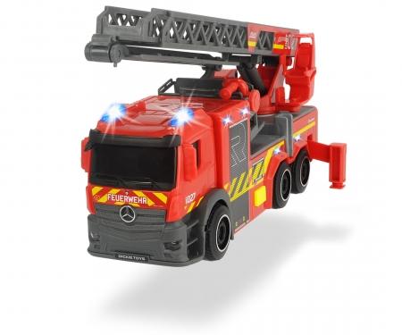 DICKIE Toys Camion de pompiers avec échelle tournante