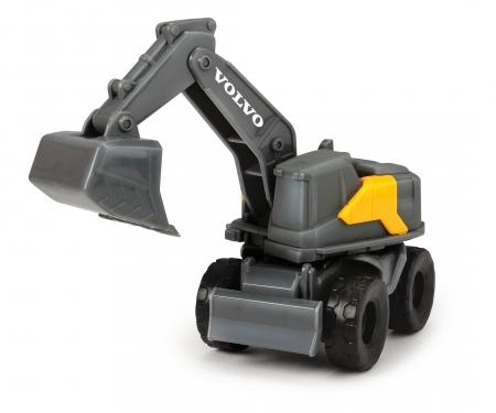 DICKIE Toys SET 5 VEHÍCULOS CONSTRUCCIÓN VOLVO MINI, 10 CM