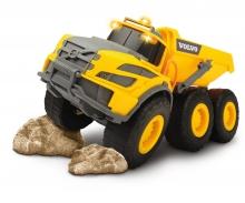 DICKIE Toys CAMIÓN VOLQUETE VOLVO CON LUZ Y SONIDO, 23 CM