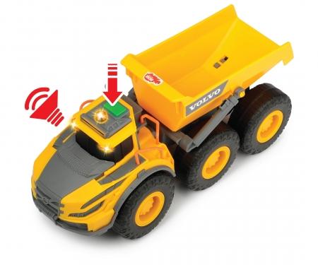 DICKIE Toys Volvo Muldenkipper mit Licht und Sound