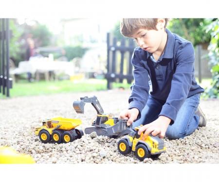 DICKIE Toys Volvo Kettenbagger mit Licht und Sound