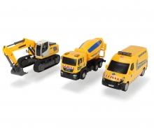 DICKIE Toys SET 3 VEHÍCULOS CONSTRUCCIÓN, 2 MODELOS