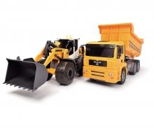 DICKIE Toys PACK 2 VEHÍCULOS CONSTRUCCIÓN CON LUZ Y SONIDOS 28 CM