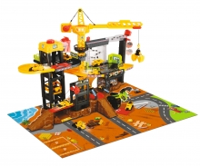 DICKIE Toys PLAYSET CONSTRUCCIONES CON GRUA Y 4 VEHÍCULOS 79 X 52 CM